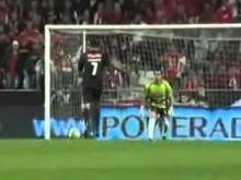 Benfica 5   0 Olhanense  Resumo com relato Antena 1 24 04 2010