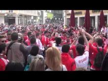 Adeptos do Benfica no centro de Munique